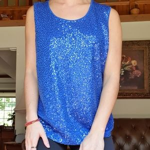 Laura Ashley sequined tank